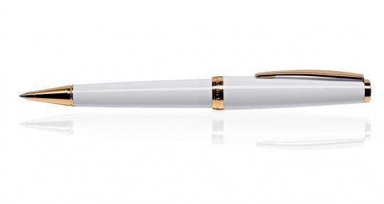 Classic Gold Drehkugelschreiber Weiß